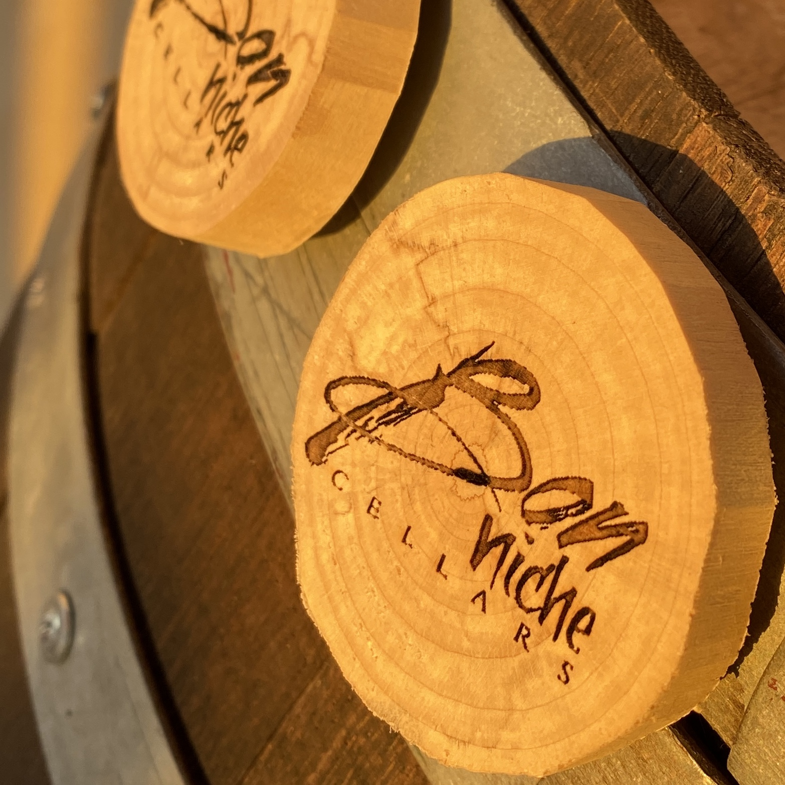 Wood Magnet – Laser Engraved bottle