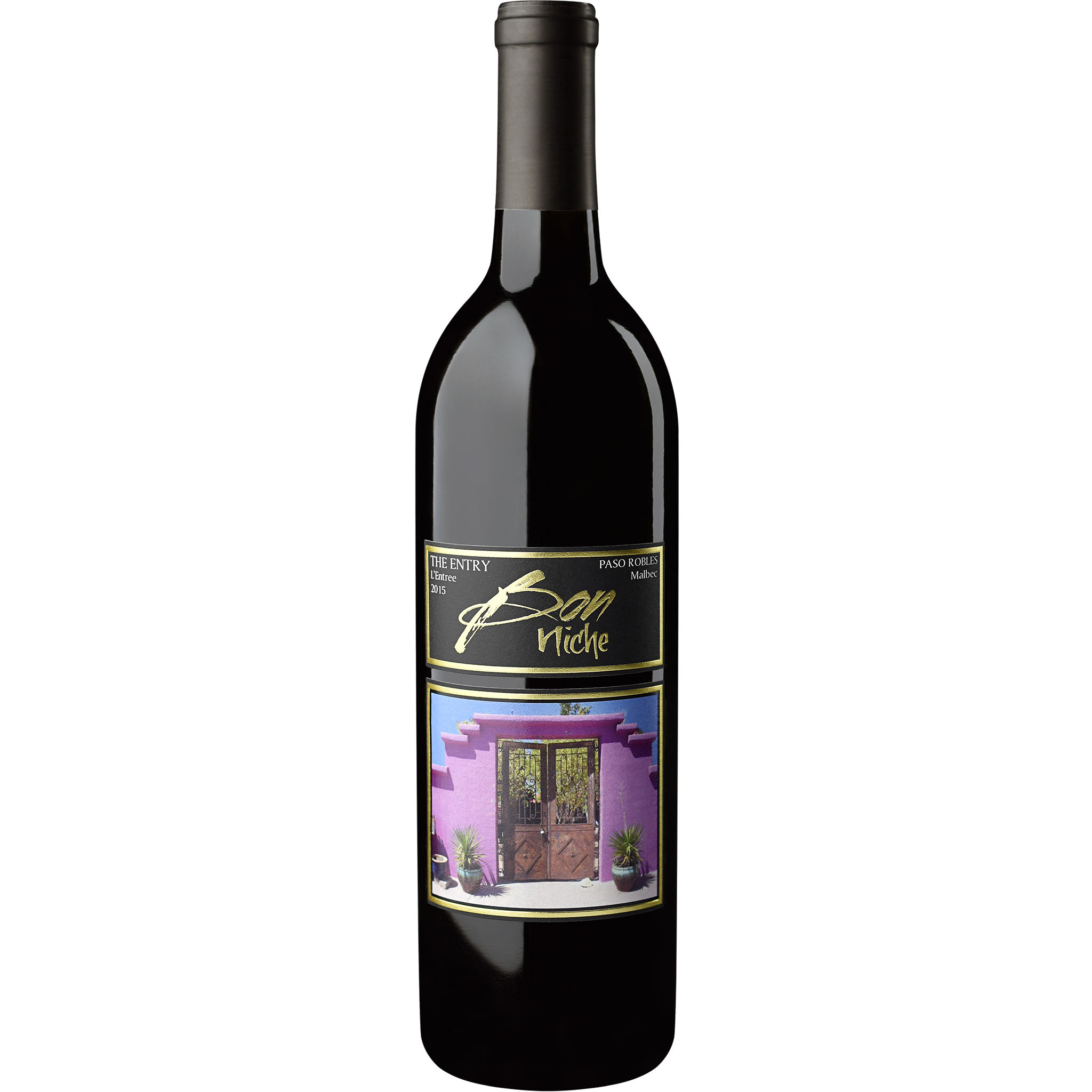 "2015 Malbec ""The Entry/L'Entree"" bottle"