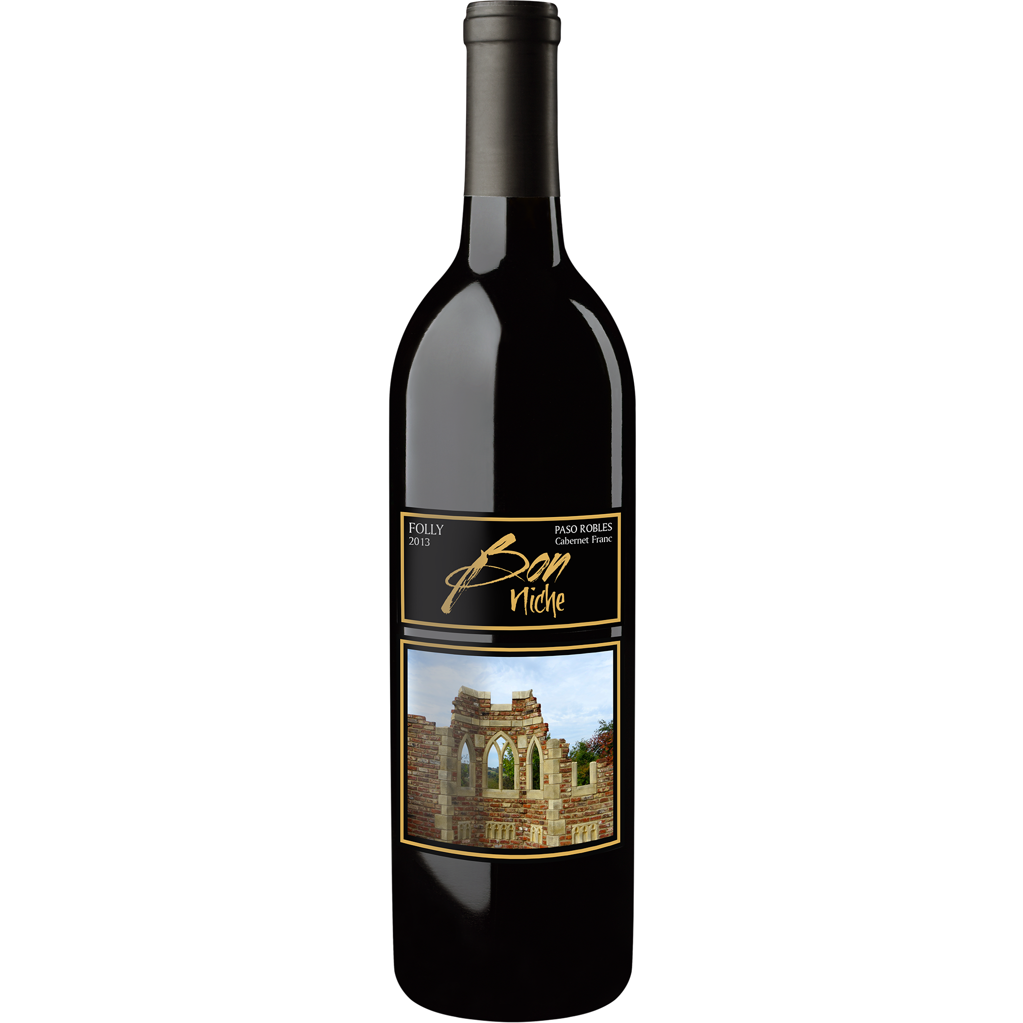 "2013 Cabernet Franc ""Folly"" bottle"