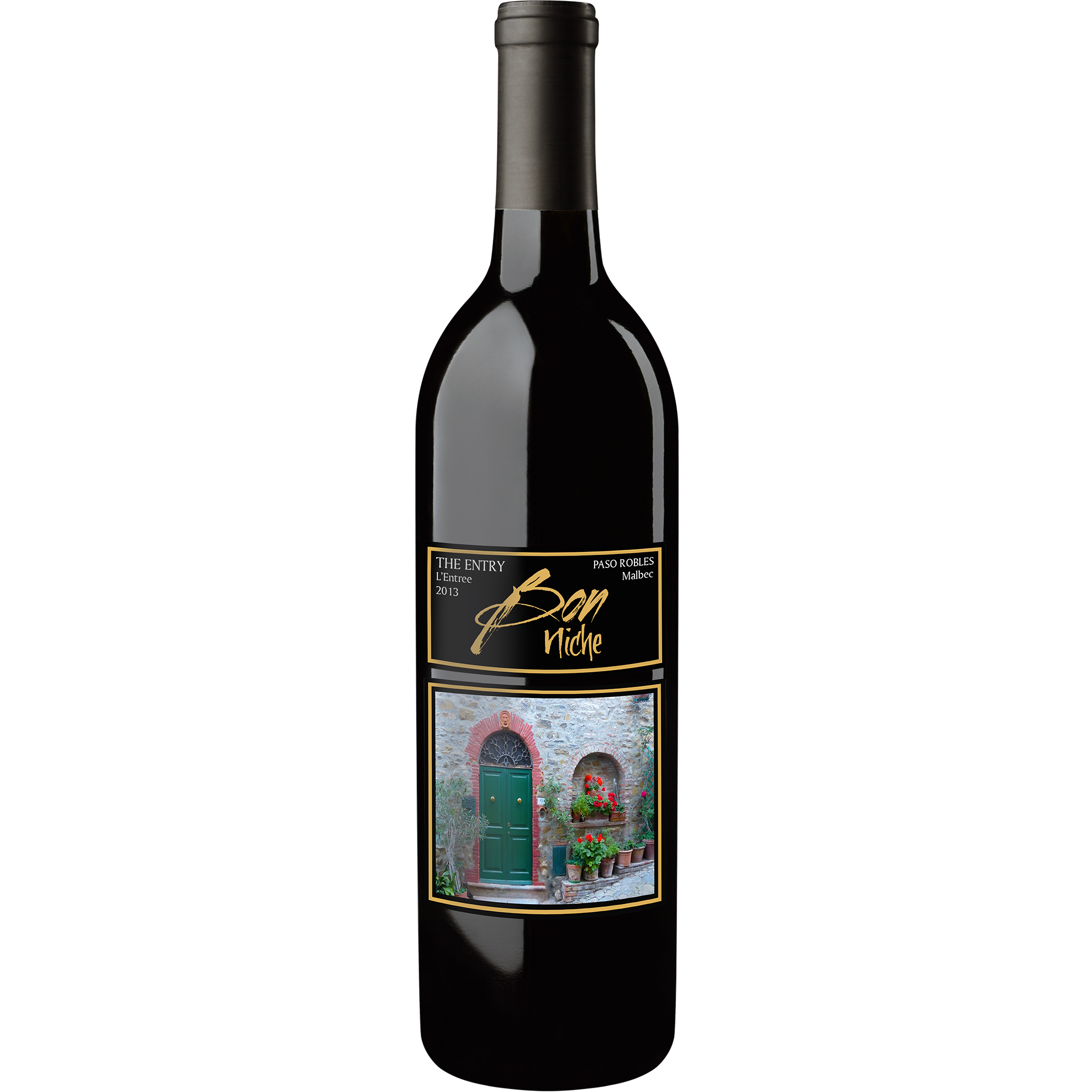 "2013 Malbec ""The Entry/L'Entree"" bottle"
