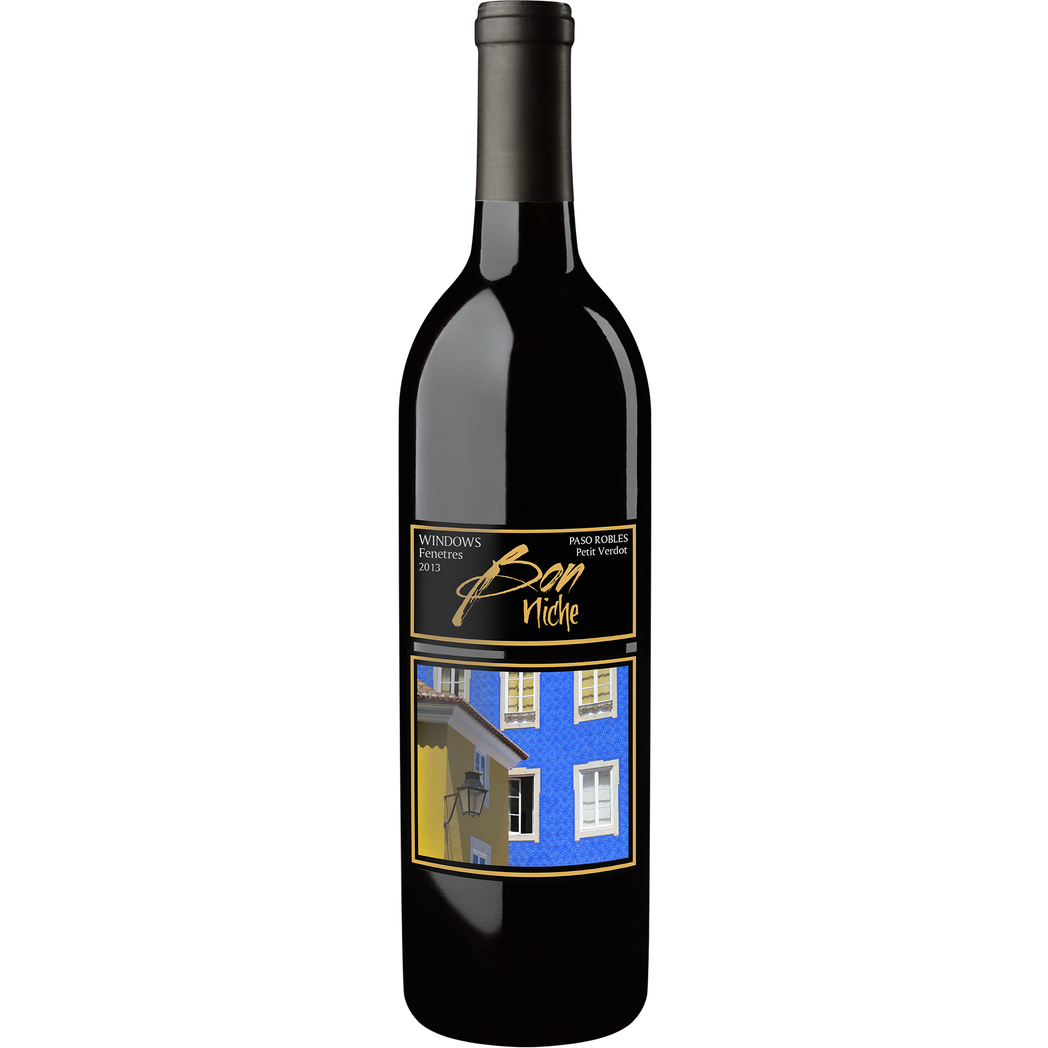 "2013 Petit Verdot Reserve  ""Windows/Fenetres"" bottle"