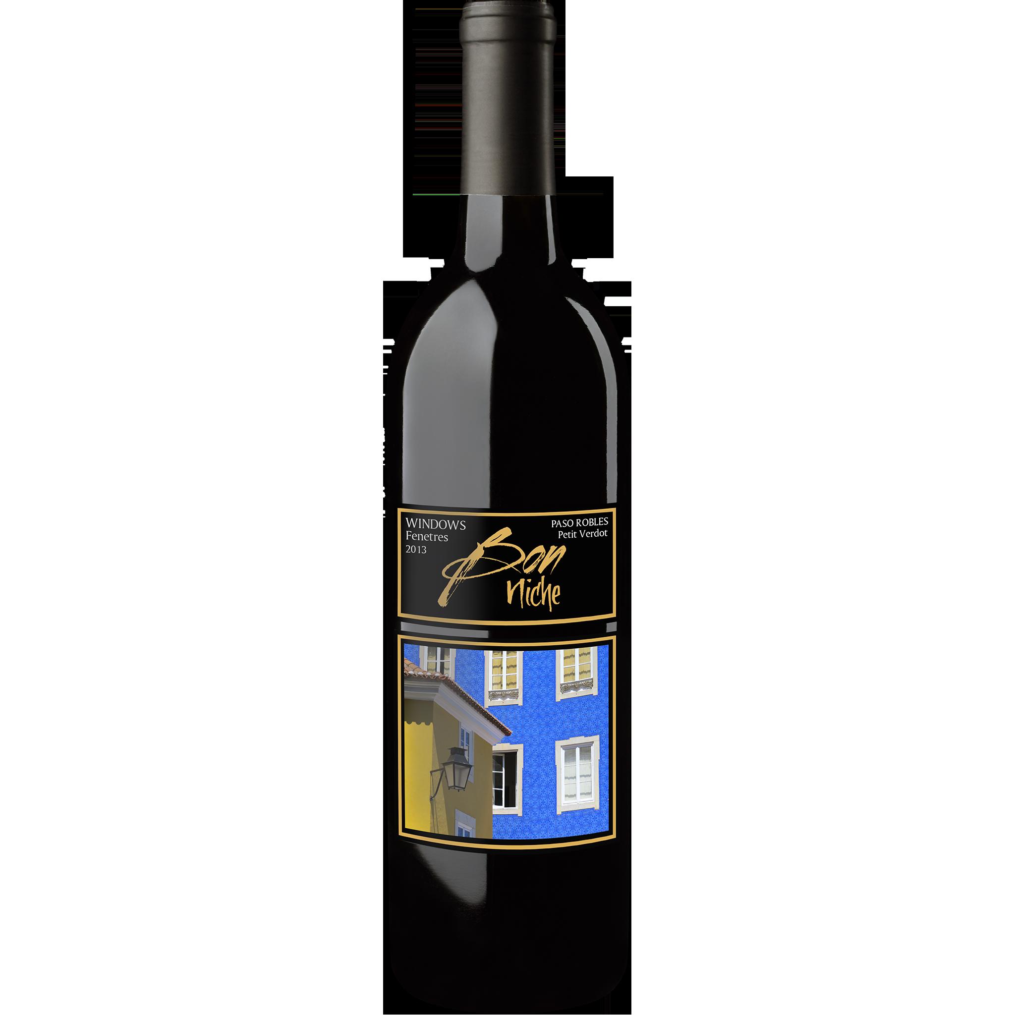 "2013 Petit Verdot Reserve  ""Windows/Fenetres"" bottle"