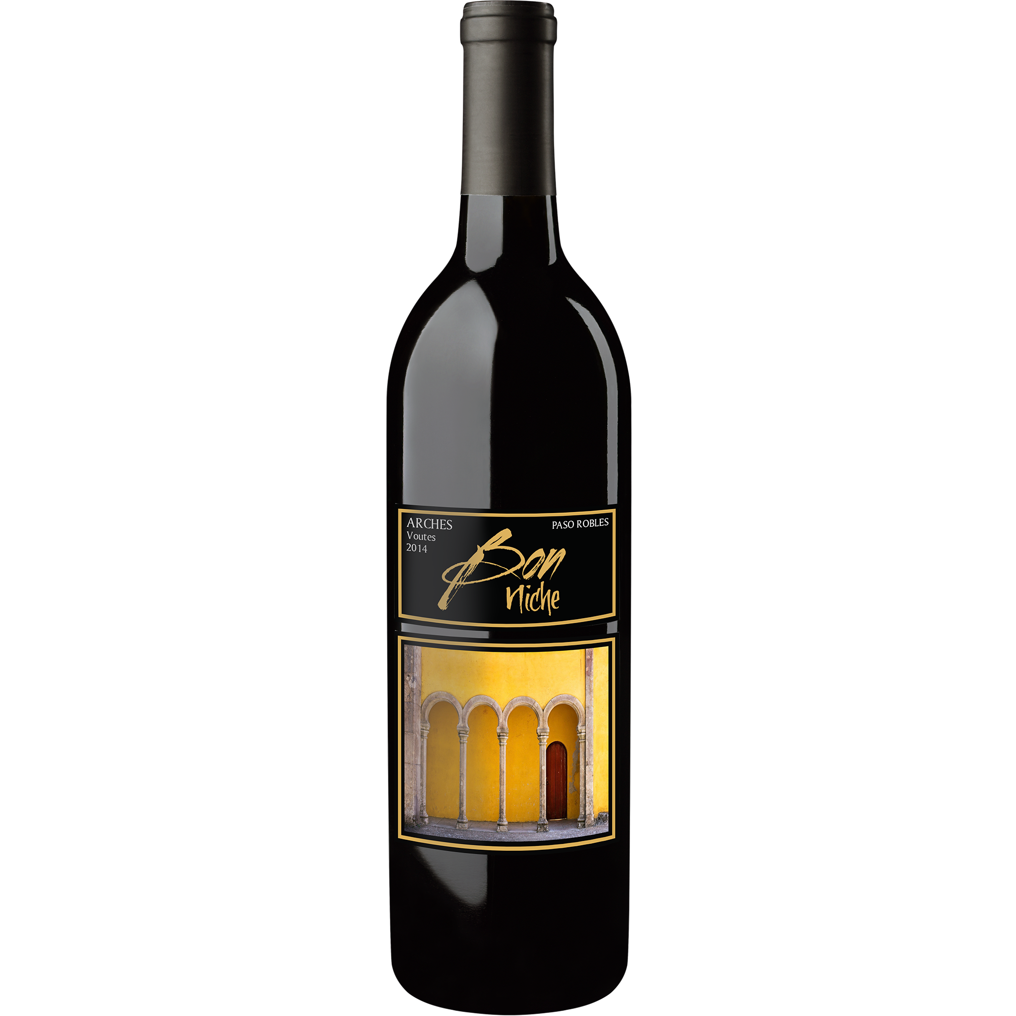 "2014 Bordeaux Style Blend ""Arches"" bottle"