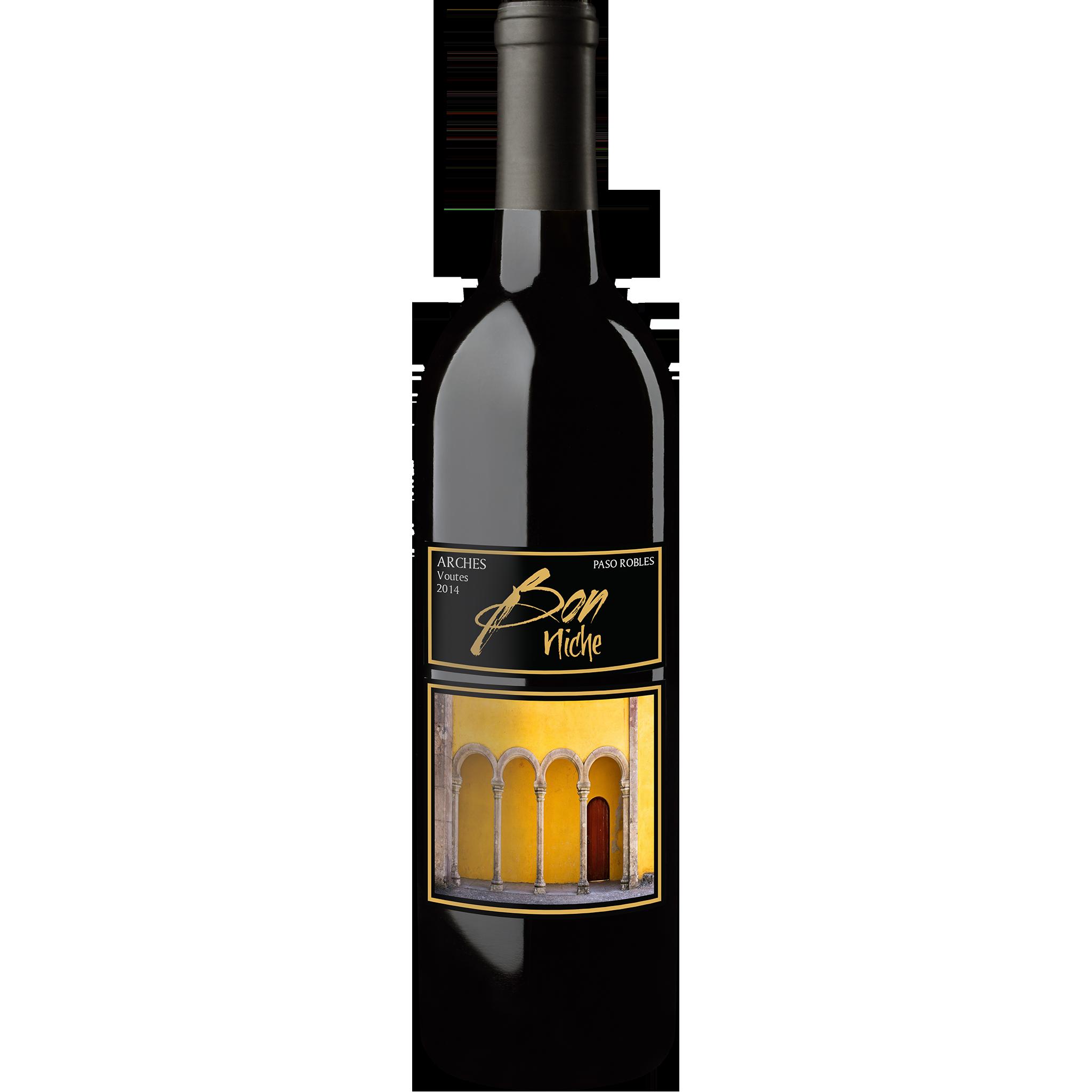 """2014 Bordeaux Style Blend """"Arches"""" bottle"""
