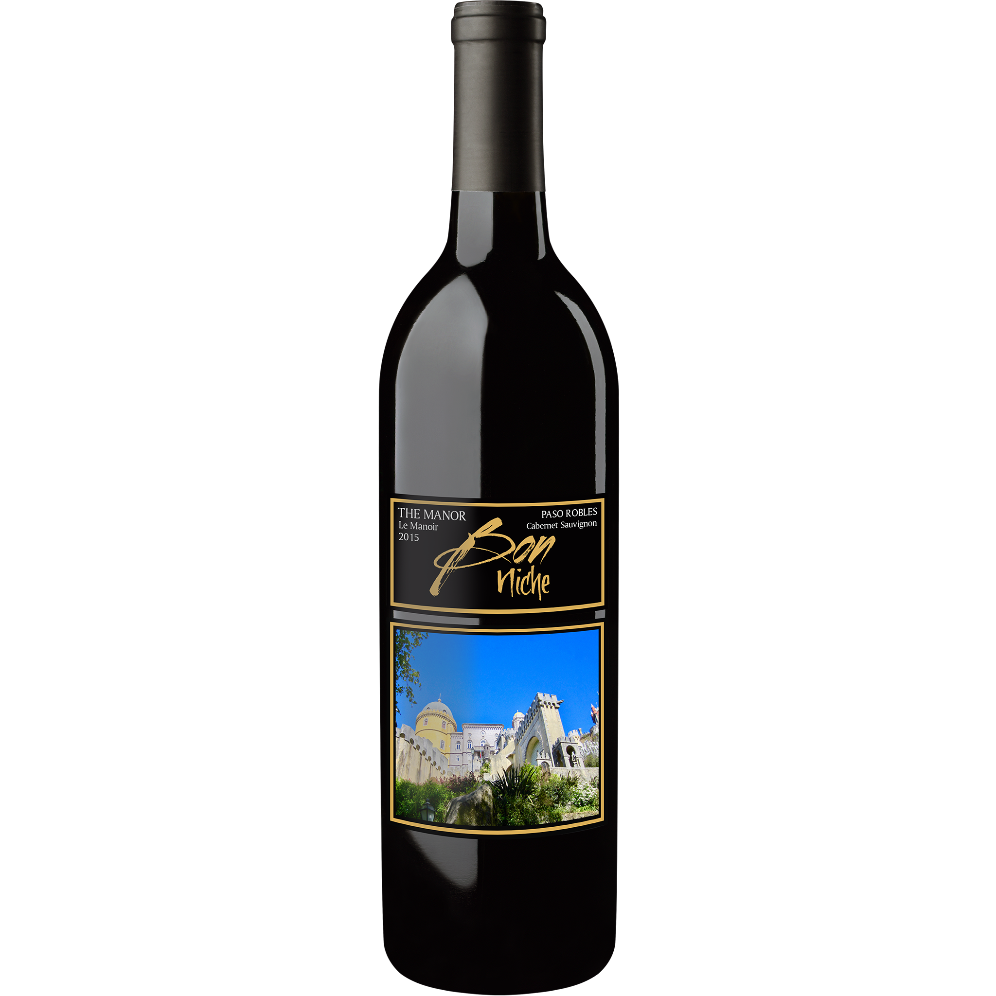 "2015 Cabernet Sauvignon ""Manor"" bottle"