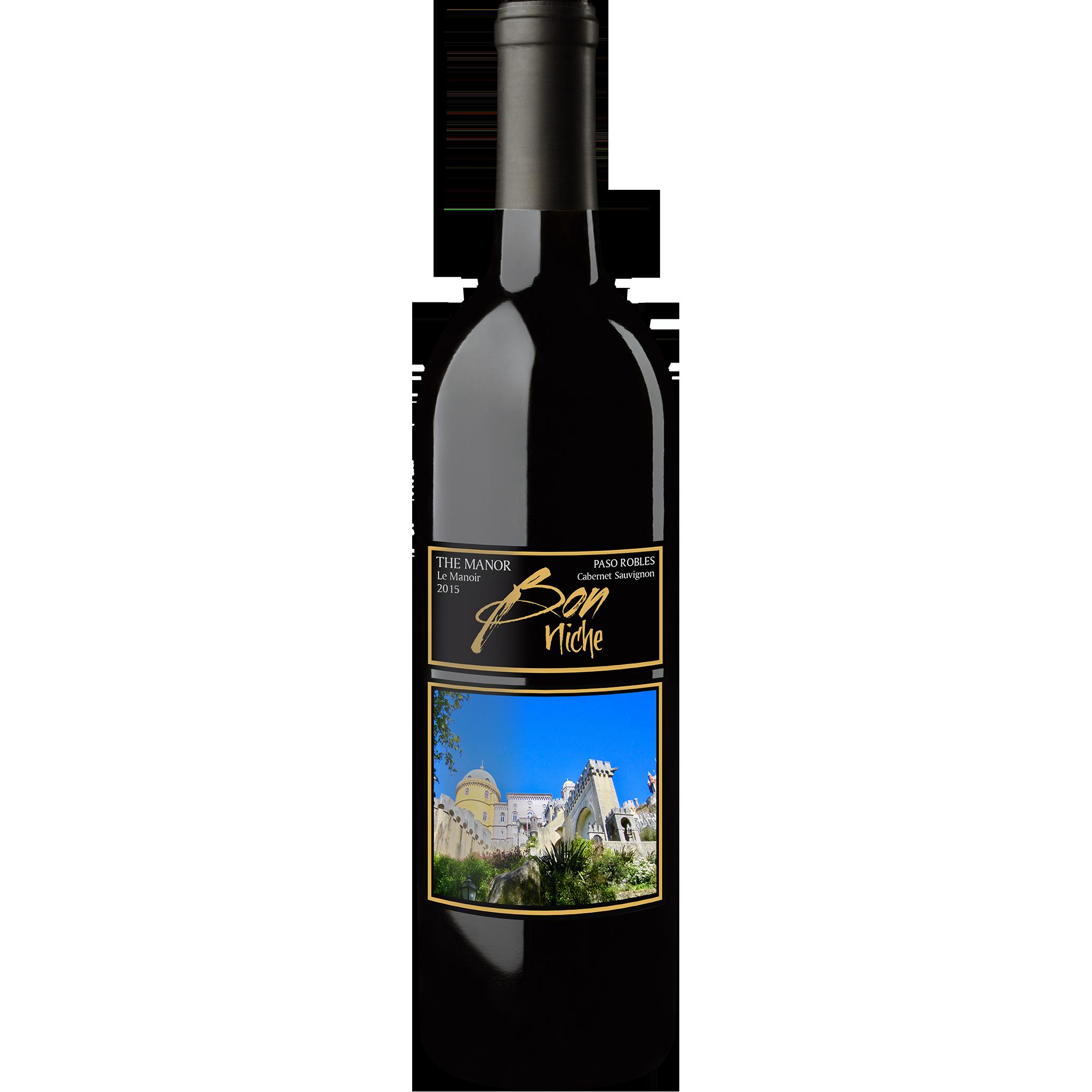 "2015 Cabernet Sauvignon ""Manor"" bottle"