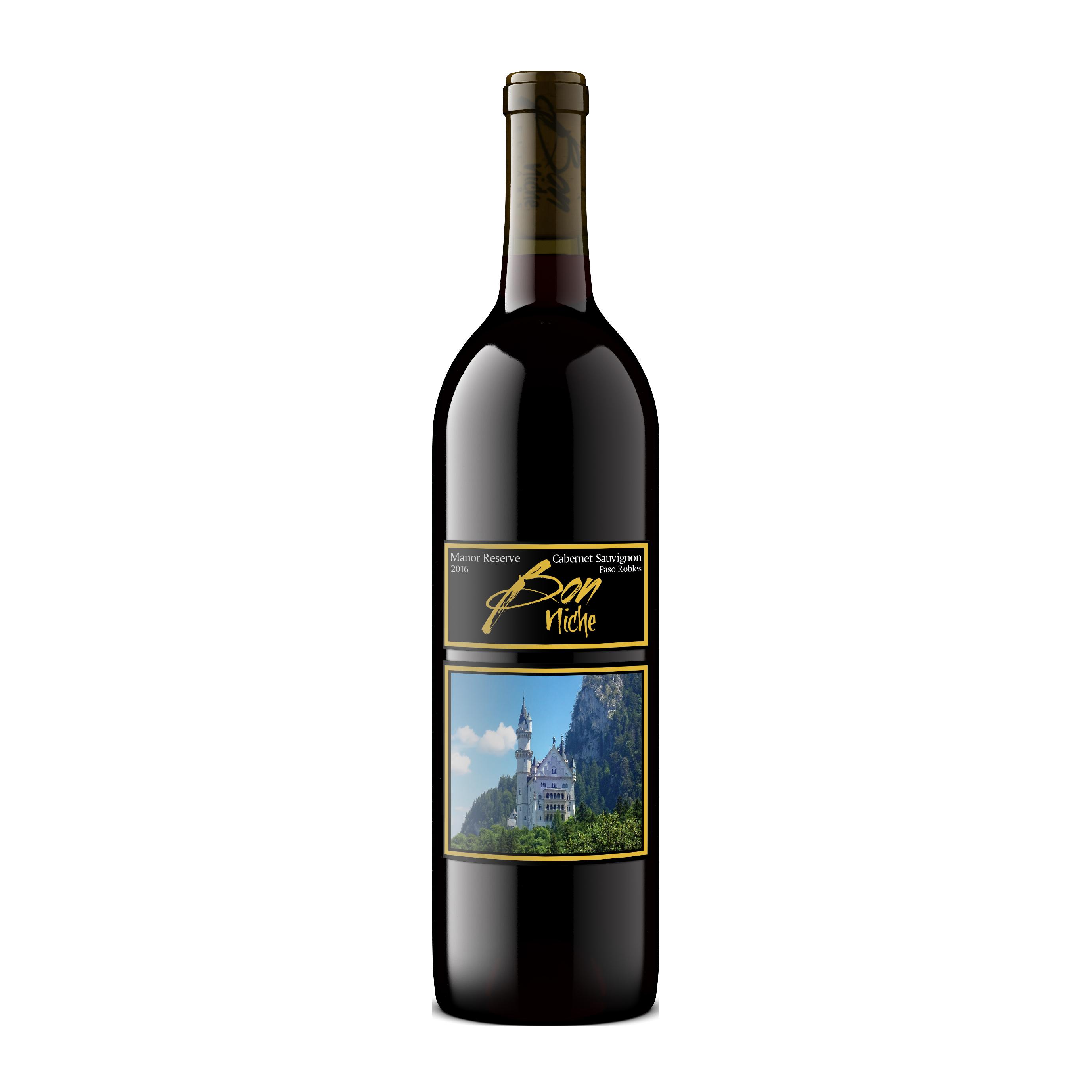 "2016 Cabernet Sauvignon ""Manor"" bottle"