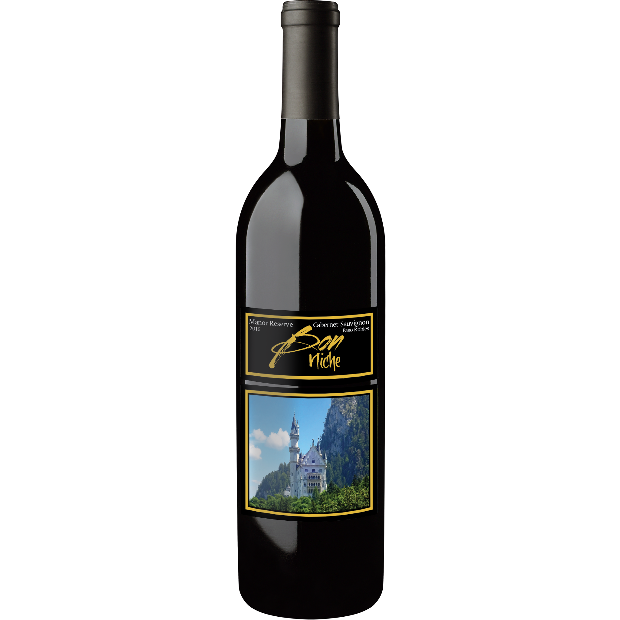 "2016 Cabernet Sauvignon ""Manor"" bottle"