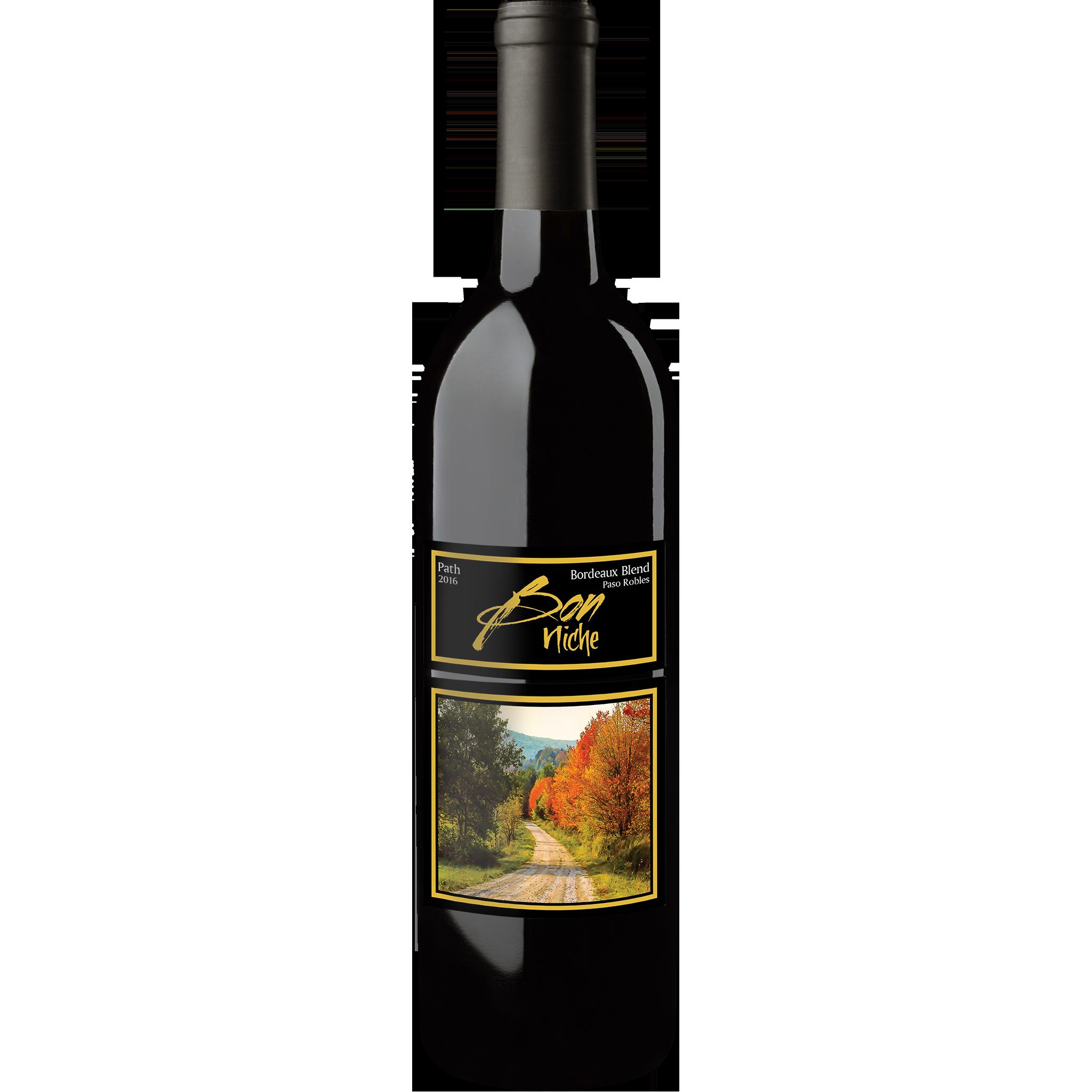"""2016 Bordeaux Style Blend """"Path"""" bottle"""