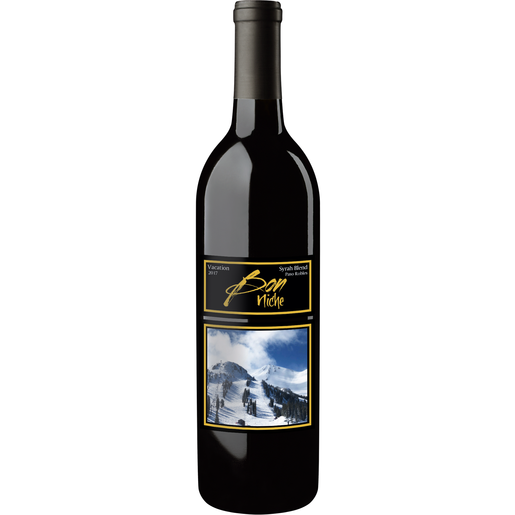 "2017 Syrah Blend ""Vacation"" bottle"