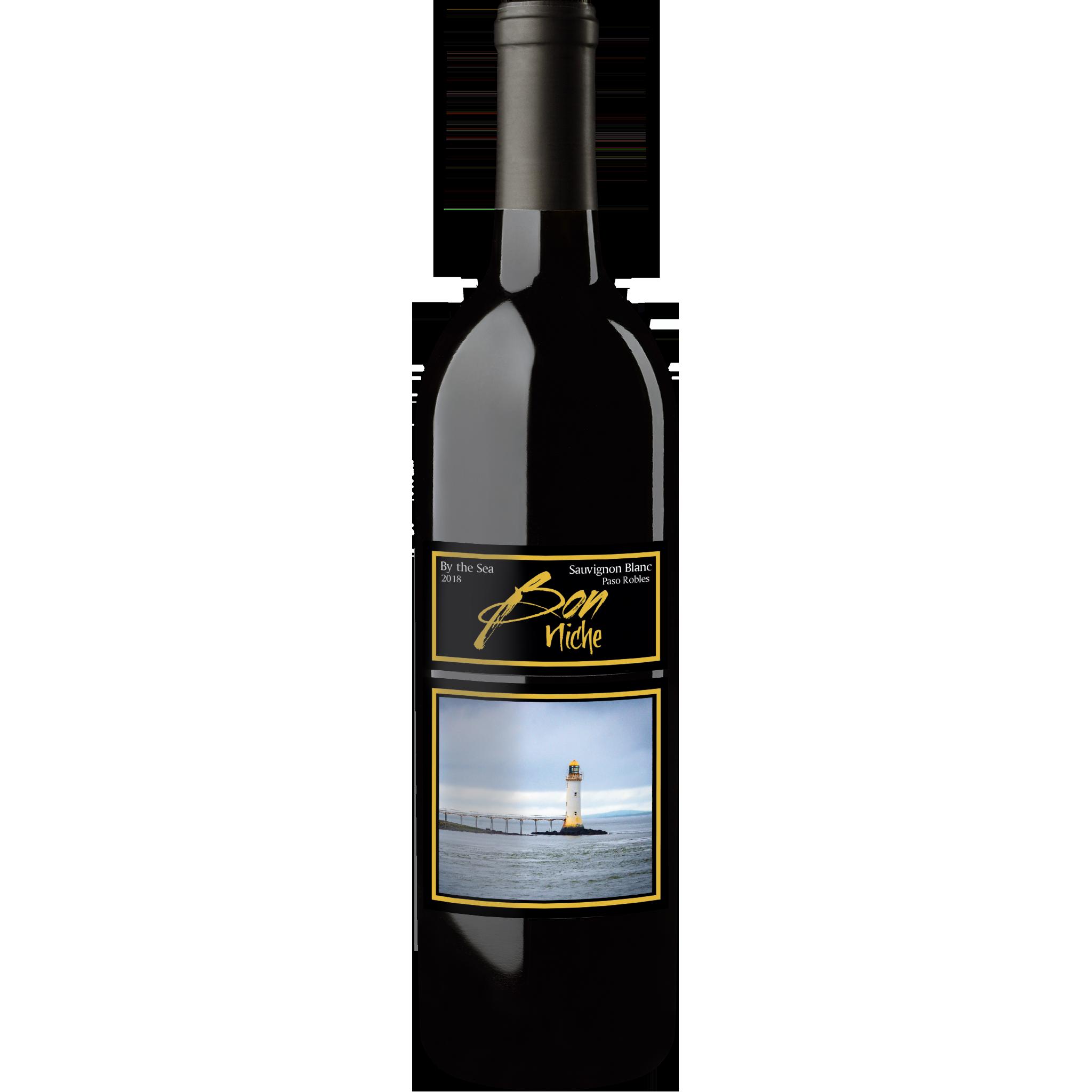 "2018 Sauvignon Blanc ""By the Sea"" bottle"