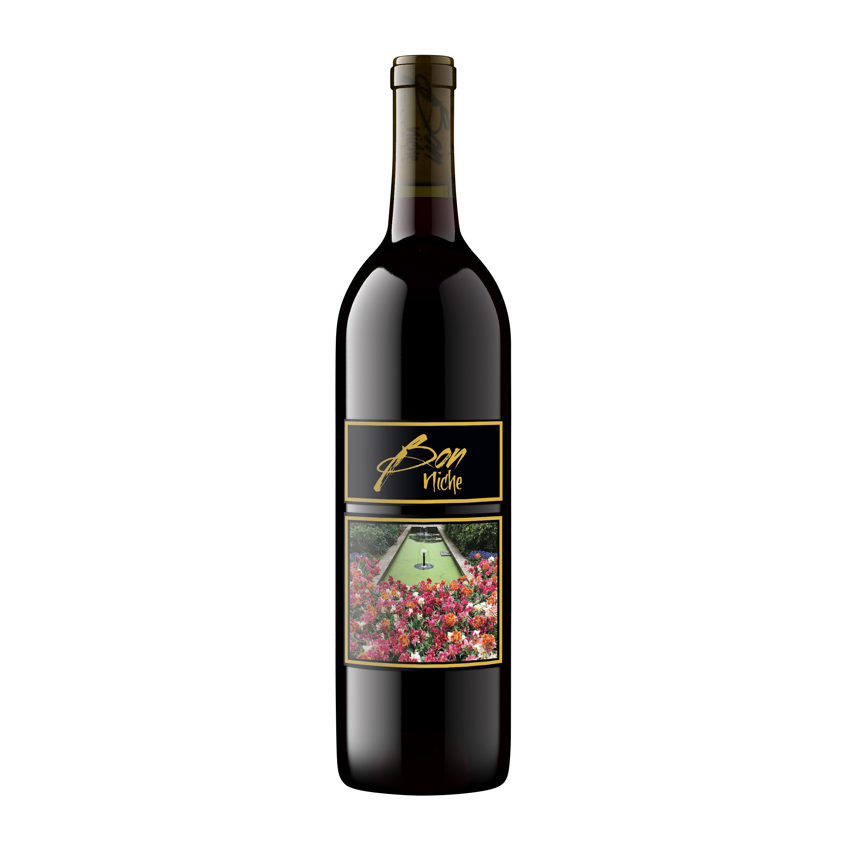 """2018 Merlot """"Garden"""" bottle"""