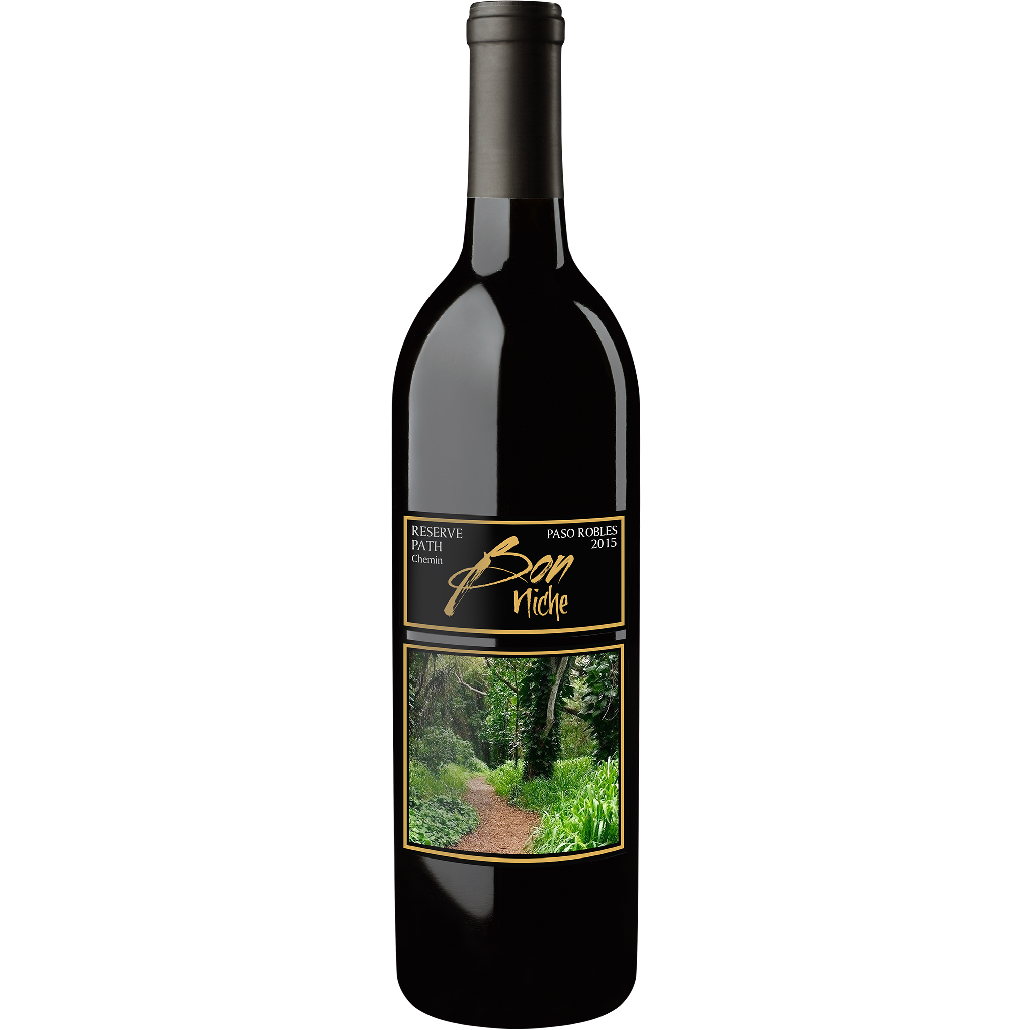 """2015 Bordeaux Style Blend Reserve """"Path/Chemin"""" bottle"""