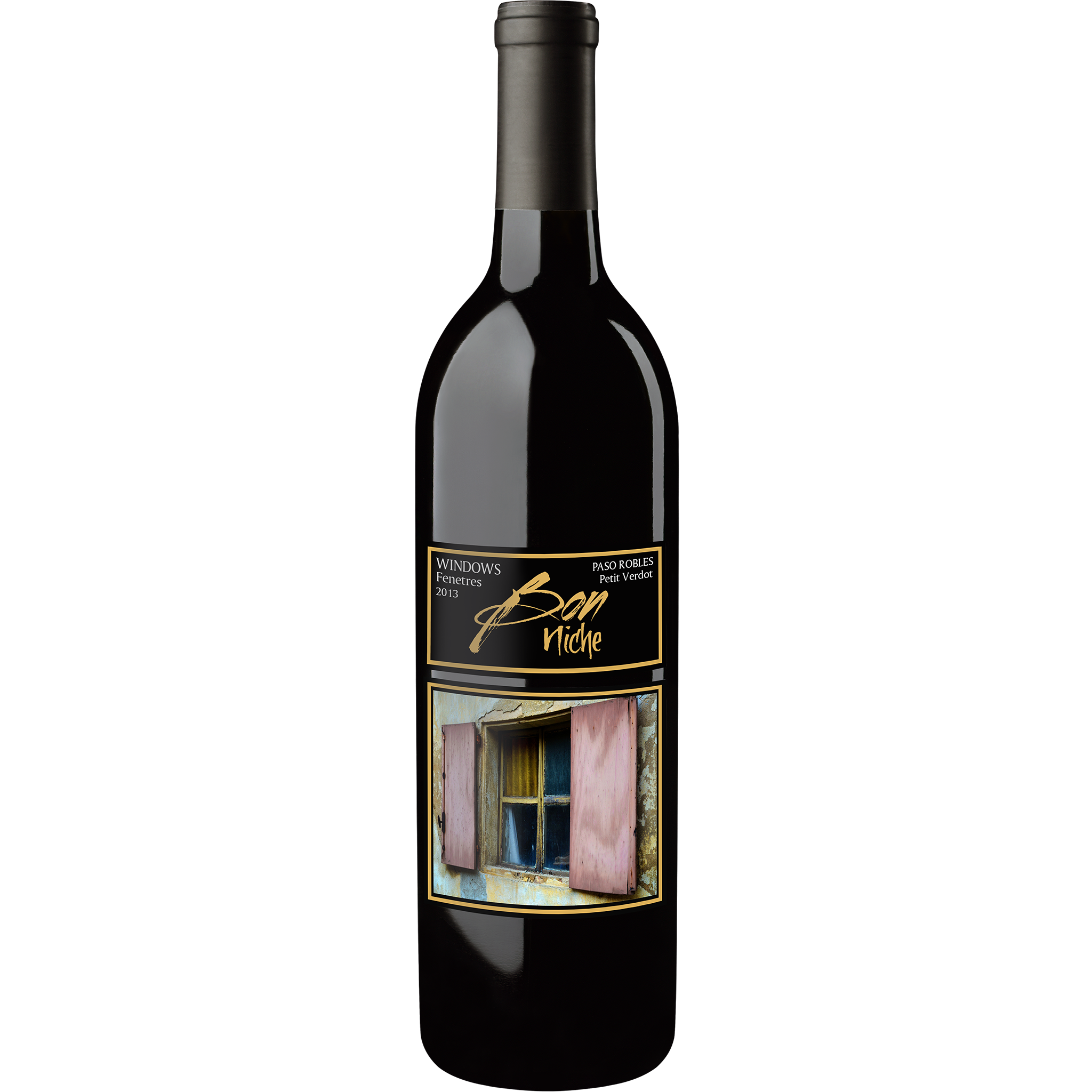 "2015 Petit Verdot Reserve  ""Windows/Fenetres"" bottle"