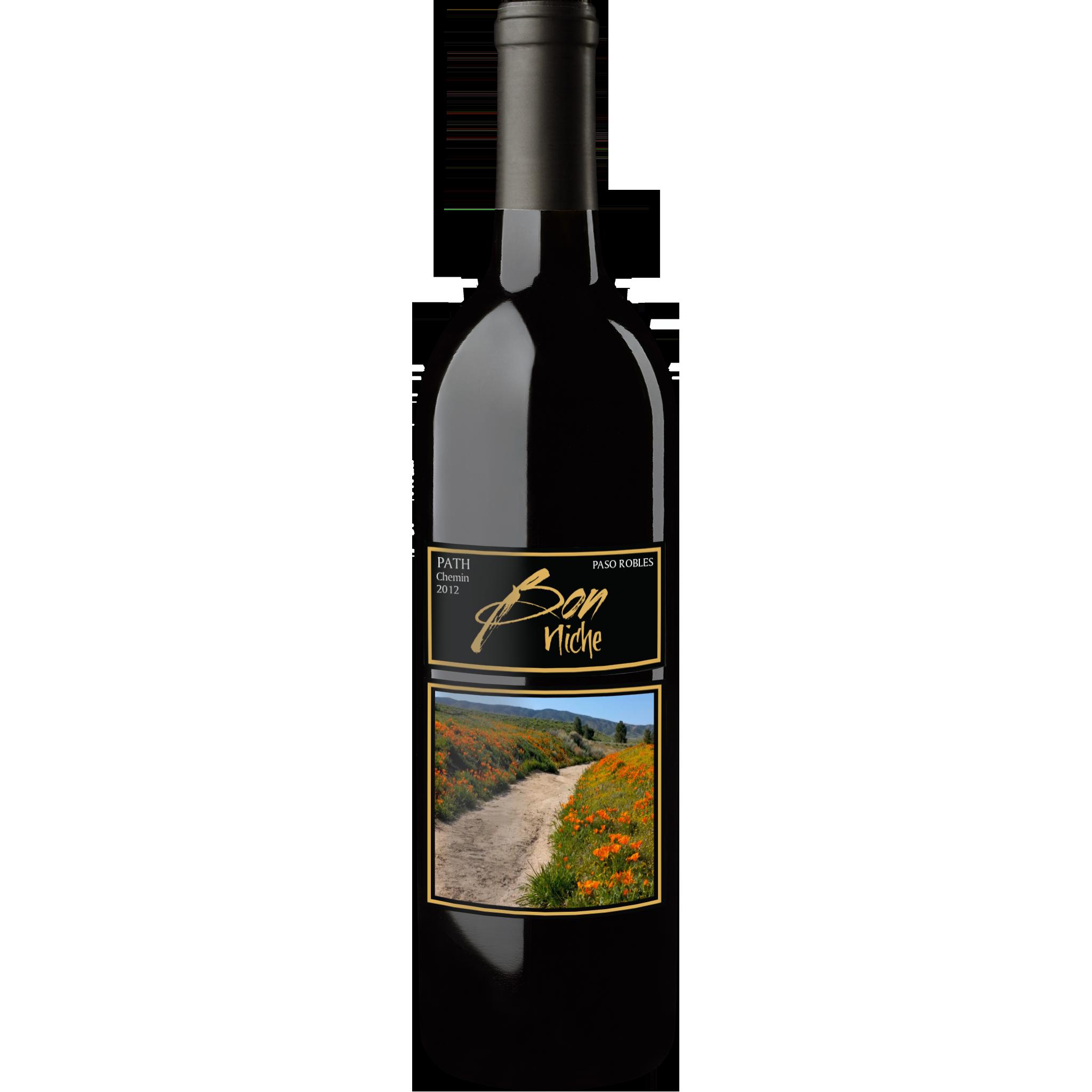 """2012 Bordeaux Style Blend """"Path/Chemin"""" bottle"""