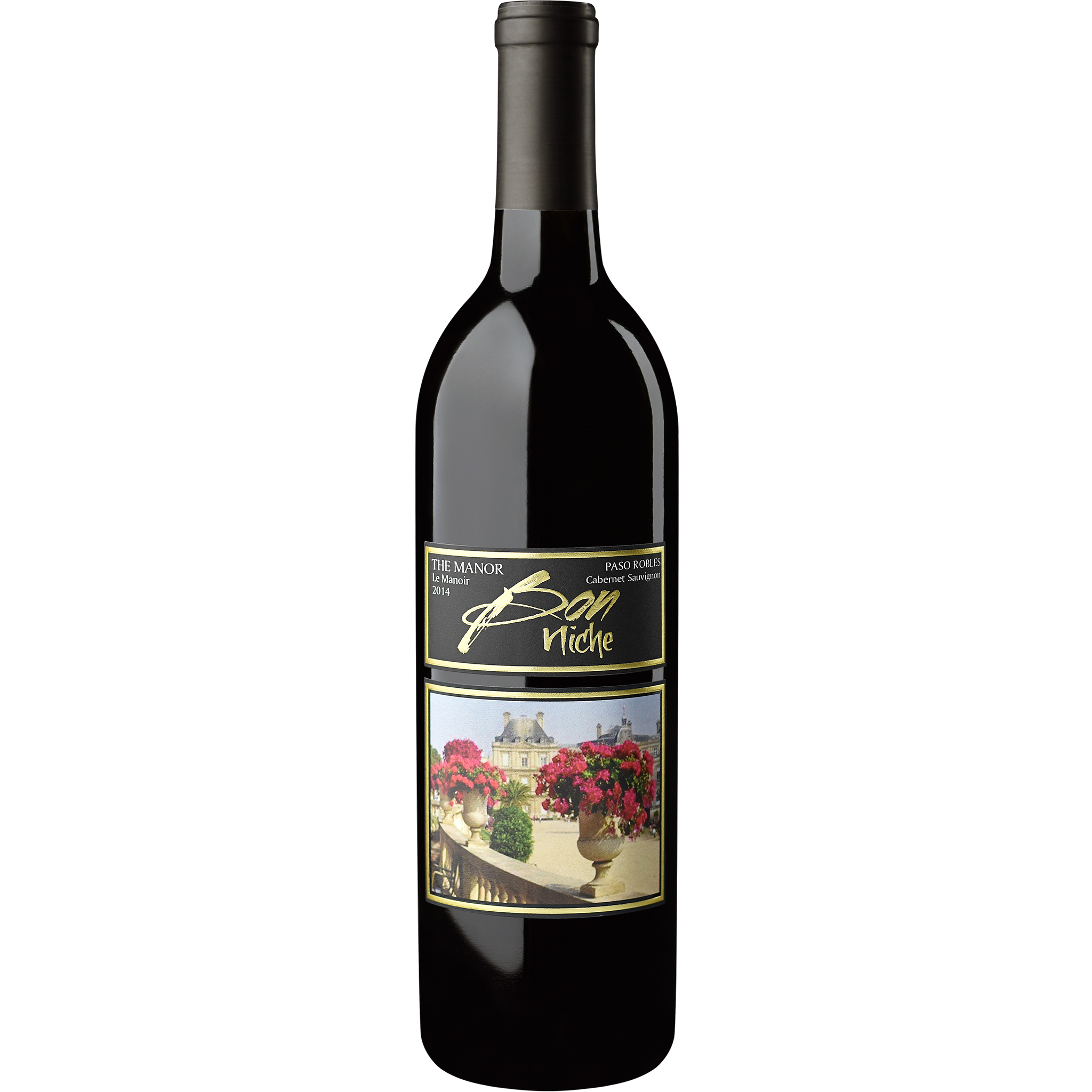 "2014 Cabernet Sauvignon ""Manor"" bottle"