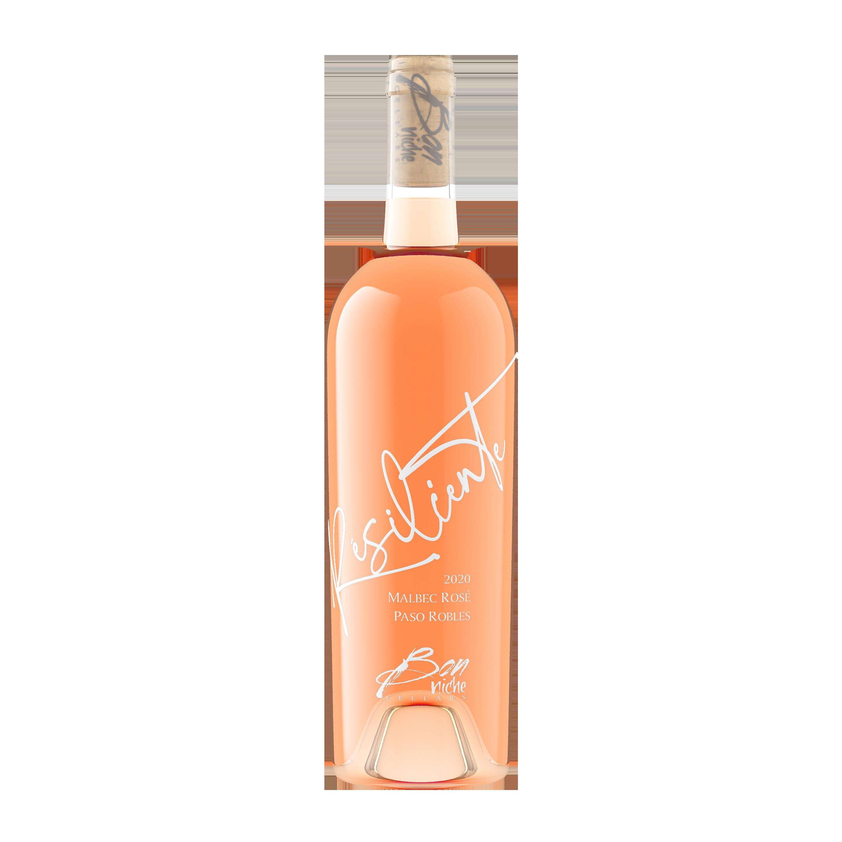 """2020 Malbec Rosé """"Résiliente"""" bottle"""