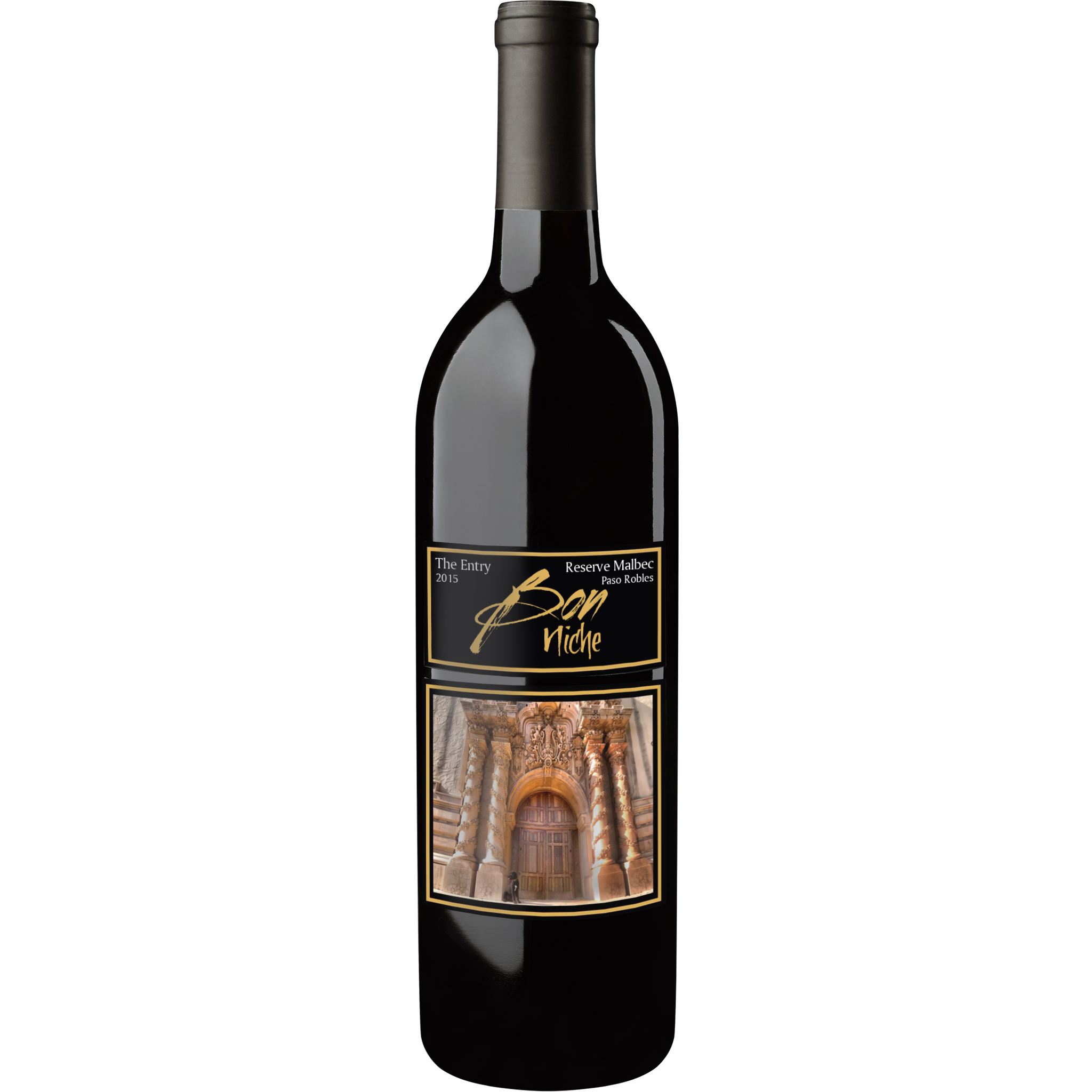 "2015 Malbec Reserve ""The Entry/L'Entree"" bottle"