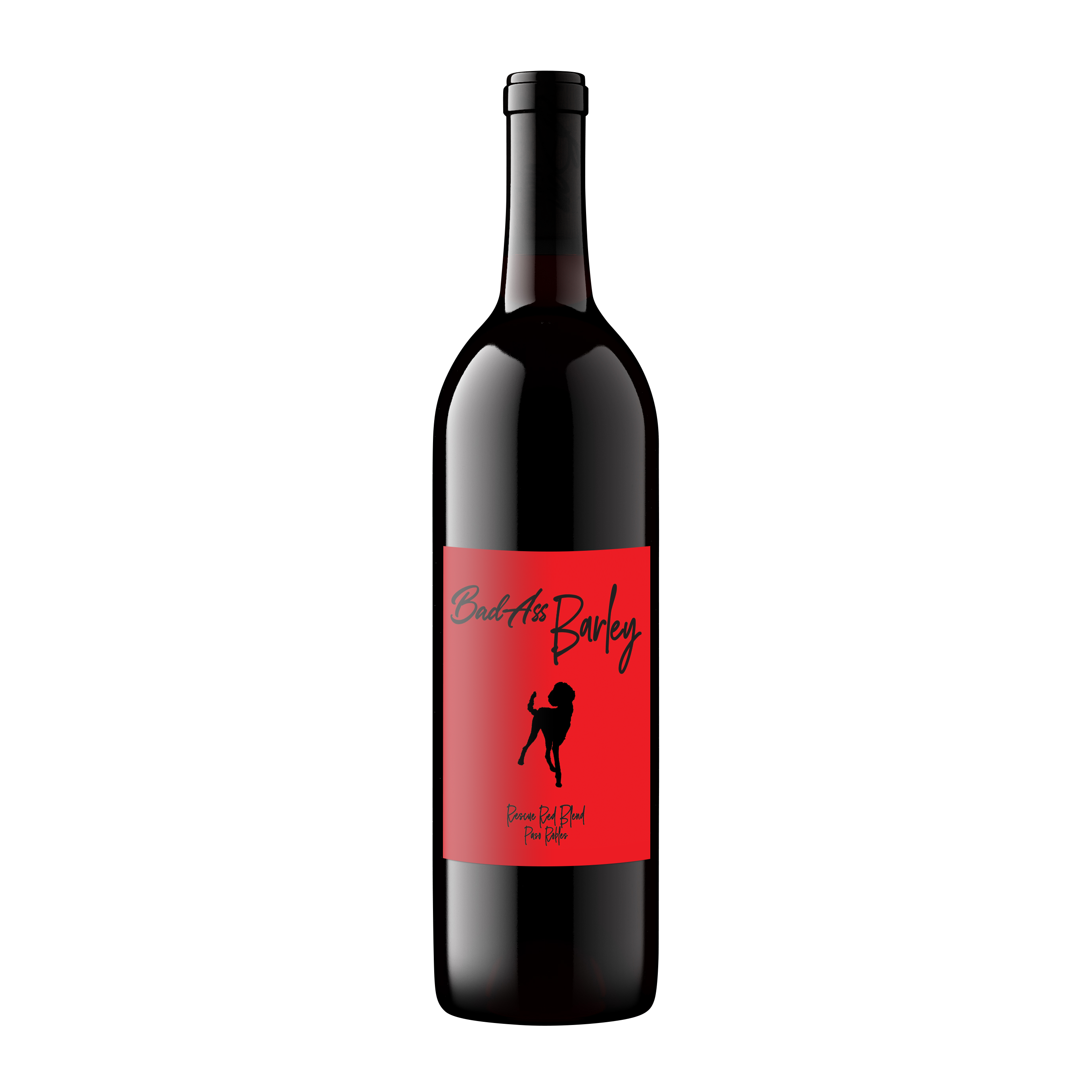 Bad Ass Barley – Rescue Red Blend bottle